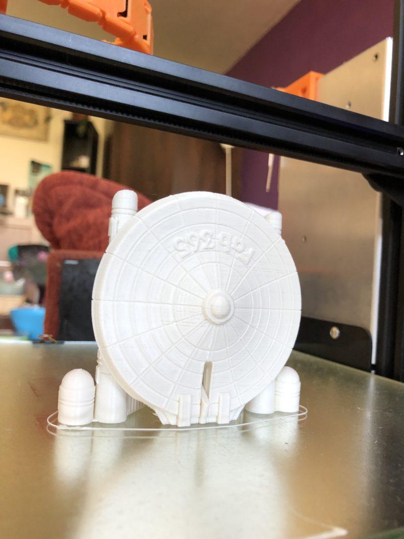 3D modely – skládací model kosmické lodi Enterprise
