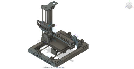 ThreeDee 3D tiskárna – vlastní stavba – rám a pojezdy
